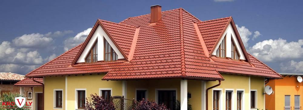 дом с керамической черепицей