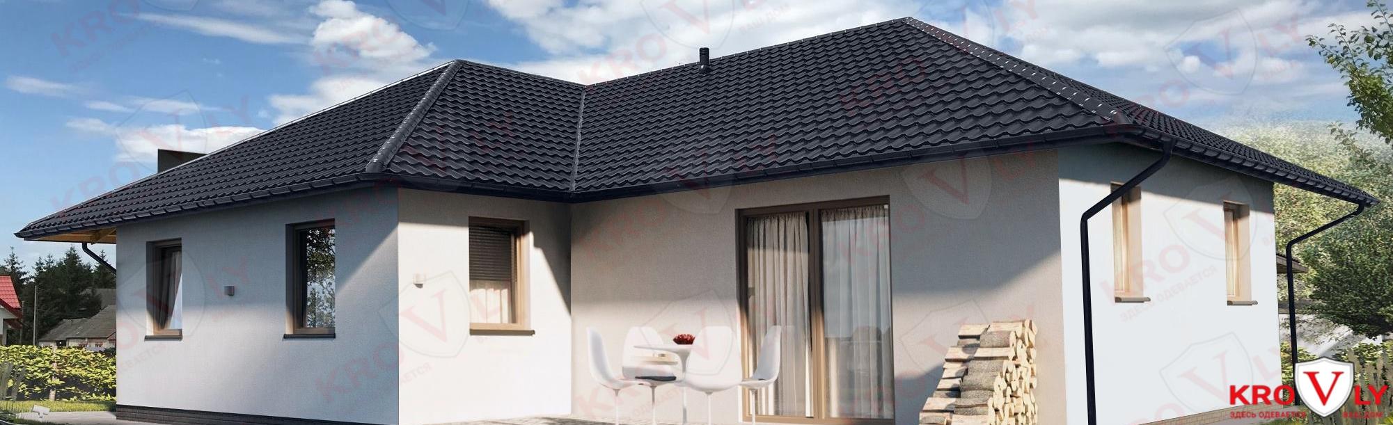 Крыша из металлочерепицы Bratex