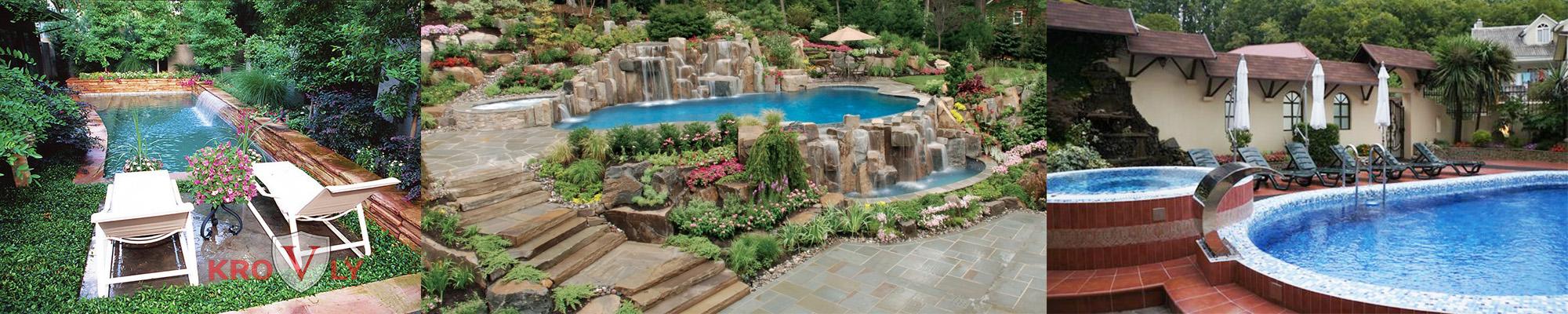 Строительство фонтанов, альпийская горка, строительство бассейнов
