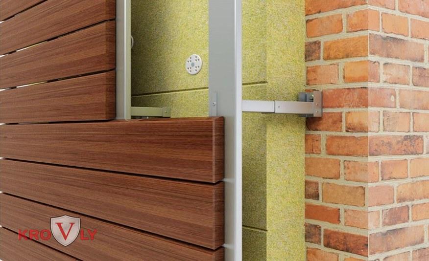 Облицовка вентилируемого фасада фасадной доской, дпк, террасной доской