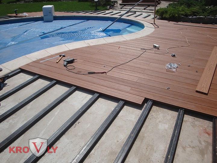 Монтаж террасной доски дпк на бетонное монолитное основание