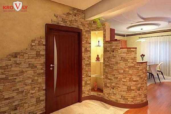 Декоративный камень отделка интерьер