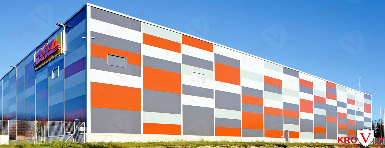 фасад из сэндвич-панелей